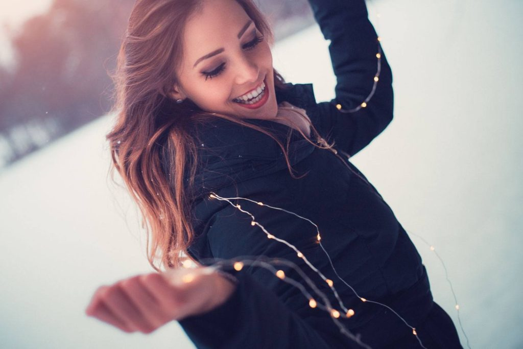 Christmas lights, Portraitshooting mit Ramona Rickli, ©2017