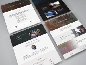 Screenshots of website, Designwerk
