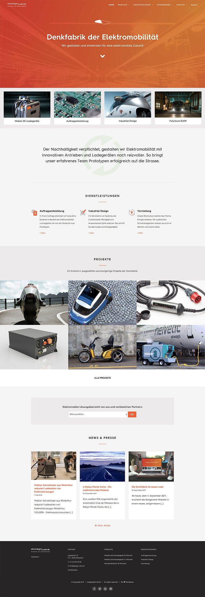 Screenshot der Website von Designwerk GmbH
