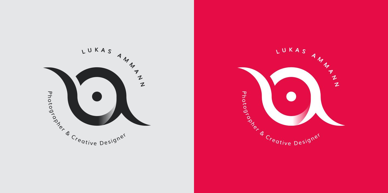 Zwei Versionen des Personal Logo von Lukas Ammann