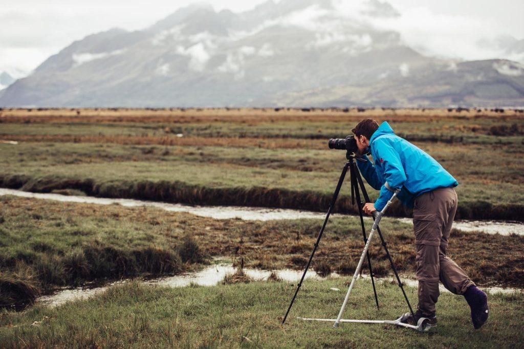 Photographer at Aoraki Mount Cook National Park, ©2017 Victor Jabbour