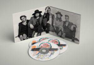 Digipack und CD-Label eines Musikalbums