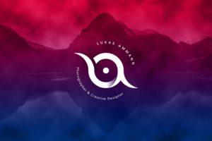 Personal Logo von Lukas Ammann auf Hintergrund